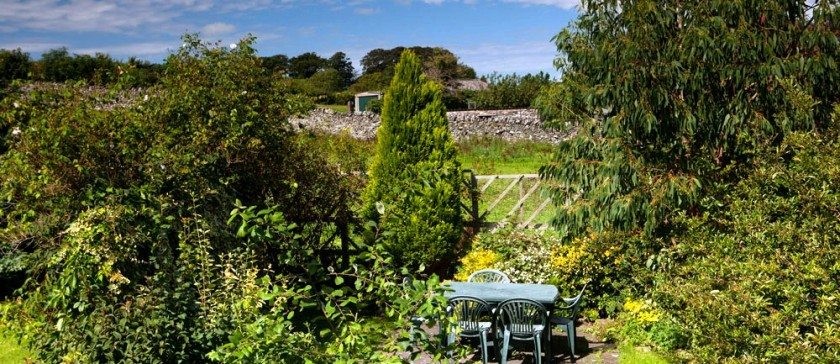 The private garden at Carree cottage