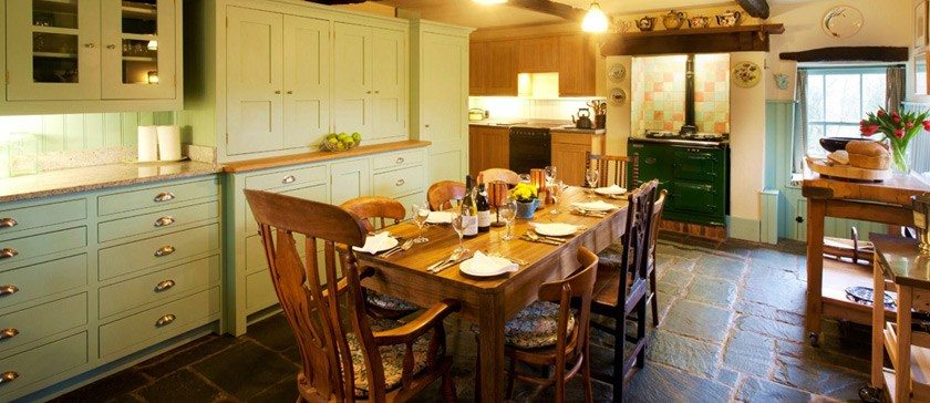 The large kitchen at Rose Farm, Holiday Cottage
