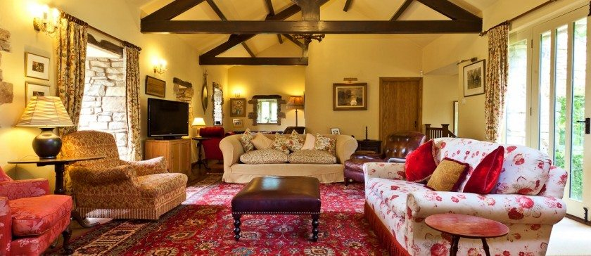 The large sitting room at Rose Farm