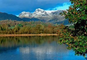 Elterwater and the Langdale Pikes