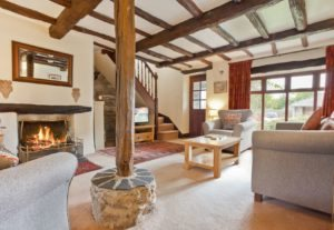 The Log Fire in the sitting room
