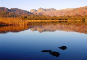 Langdale Pikes from Elterwater on a cold winter's morning