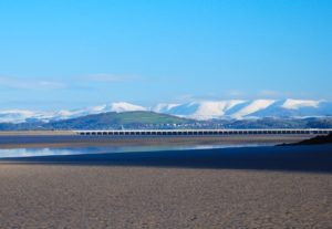 Winter view of Arnside & The Howgill's