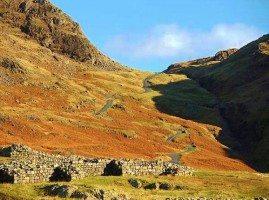 Hard Knott Pass and Roman Fort