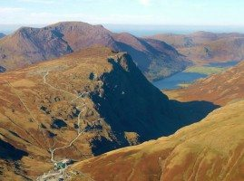 Aerial view of Honister Slate Mine