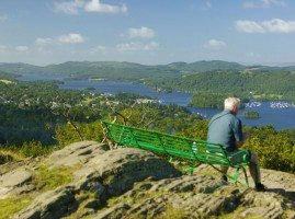 Man admiring the view from Orrest Head