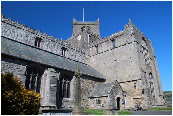 Stunning view of Cartmel Priory