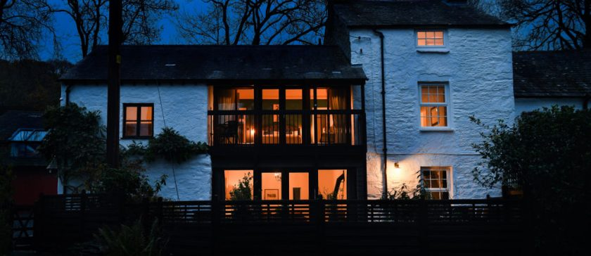Sawmill Cottage at Dusk