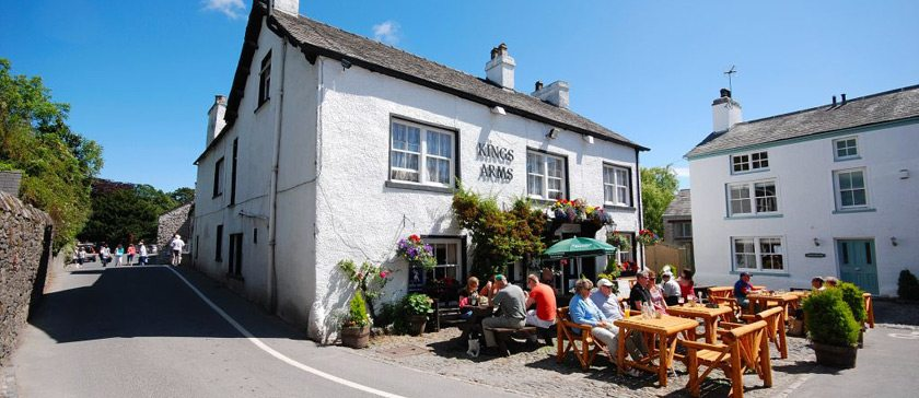 Image of The Kings Arms pub in Cartmel Square