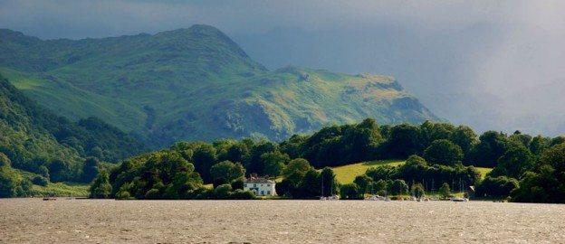 Moody image of Ullswater lake