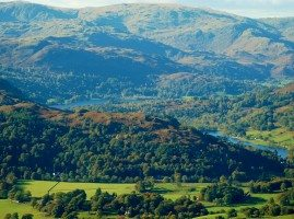 A Lake District view-ideal spot for a picnic