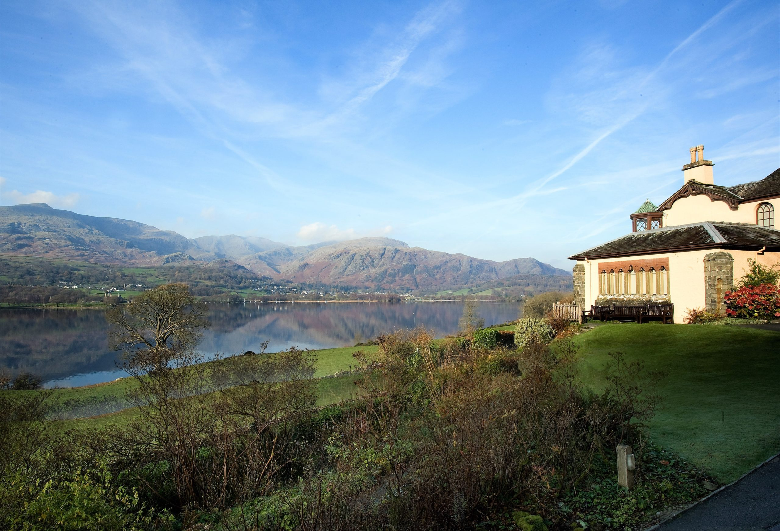Image of Brantwood, home of John Ruskin on the East shore of Coniston Water
