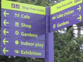 Sign post at Brockhole visitor centre