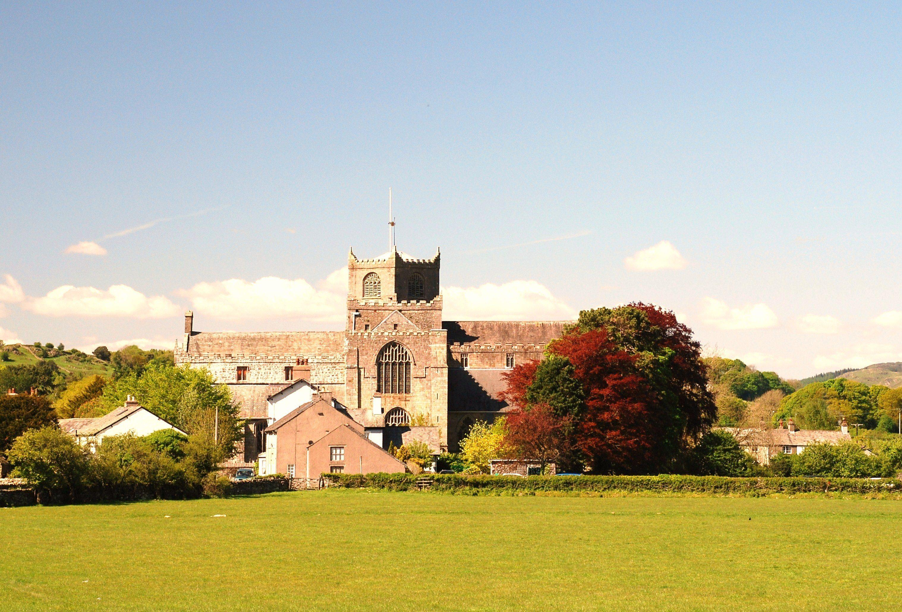 Cartmel Priory in summer