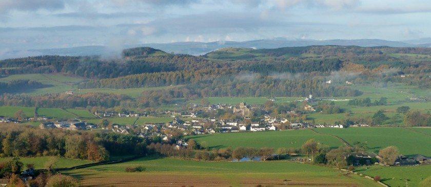 View of Cartmel village in Autumn 2014