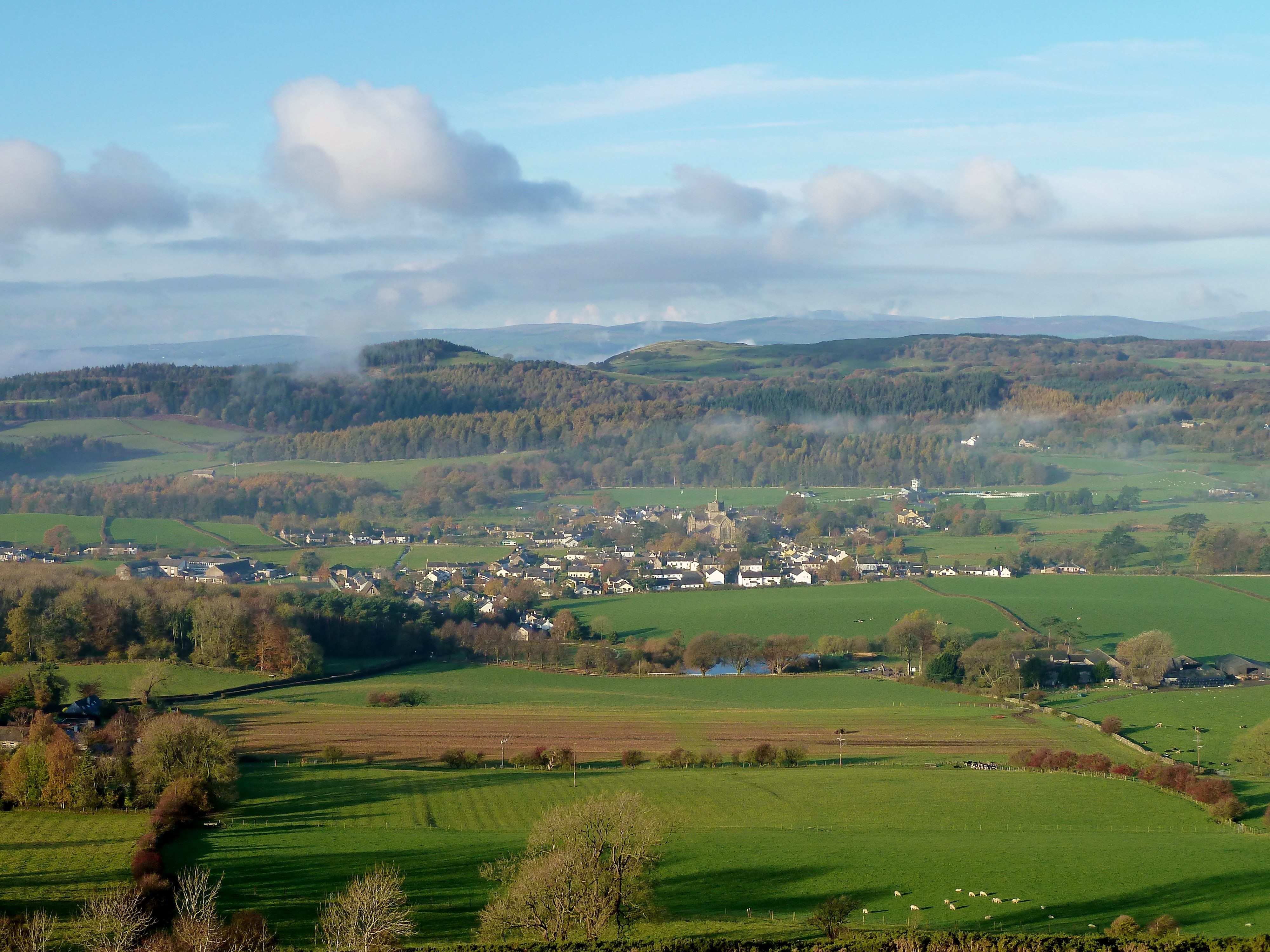 View of Cartmel village in Autumn 2014