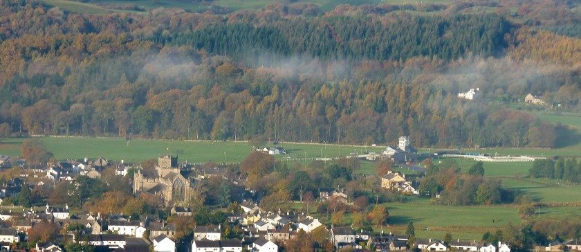 Cartmel Valley in the autumn