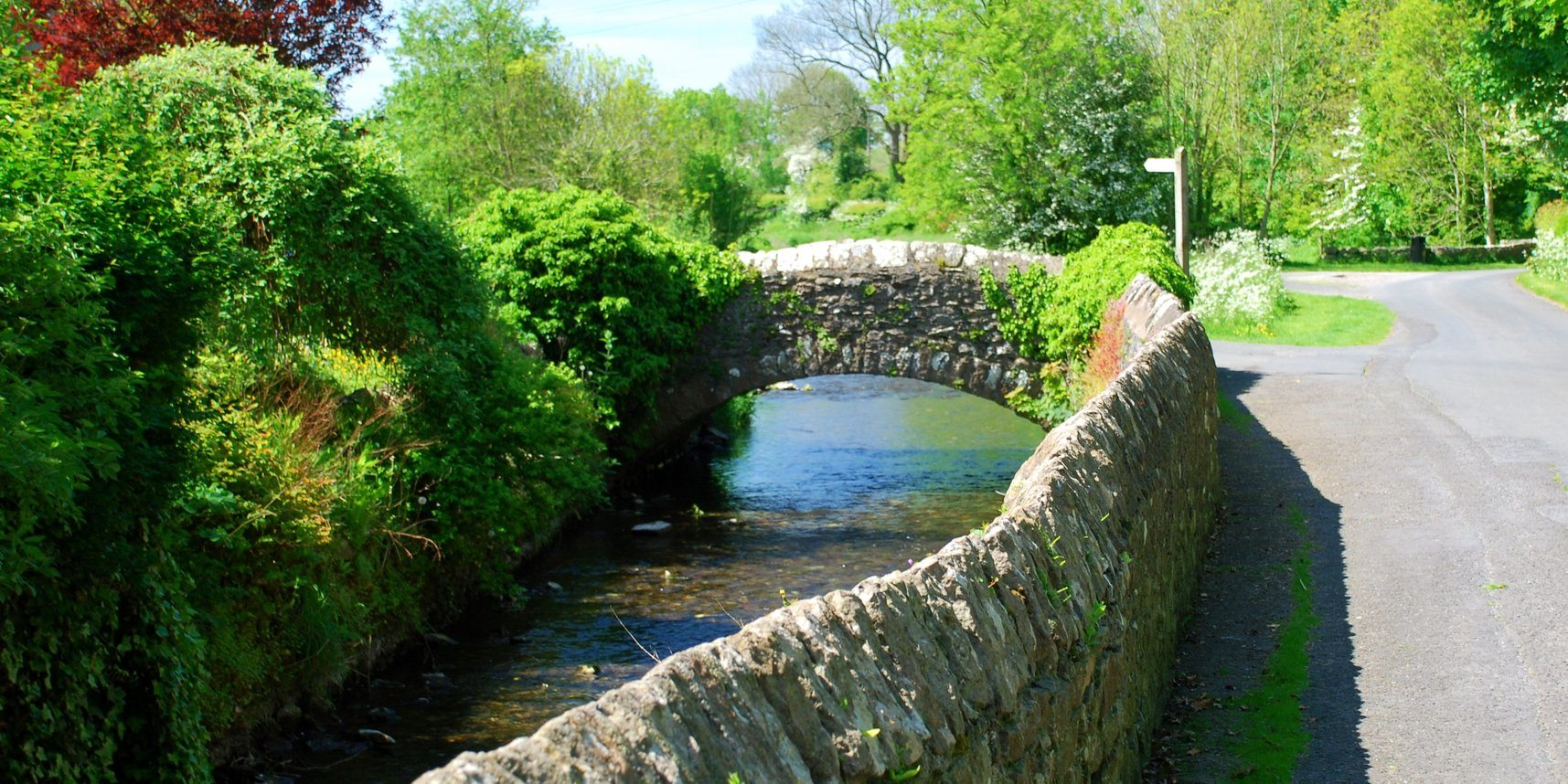 The River Eea in Cark in Cartmel village