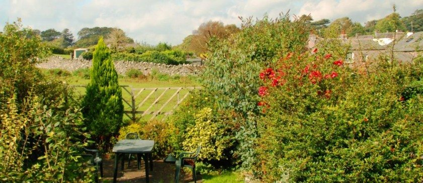 The garden in Carree Cottage