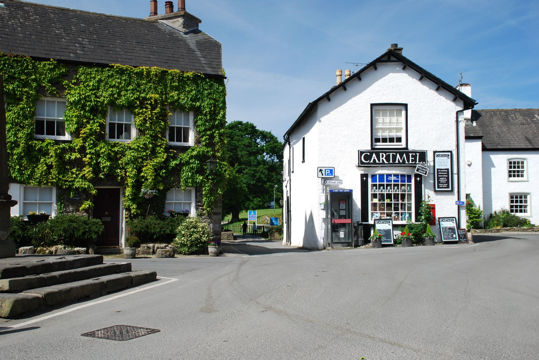 Cartmel Village Square and shop