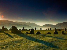 Castlerigg Stone Circle at dusk