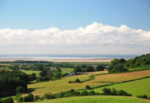 The view across Morecambe Bay and out to sea