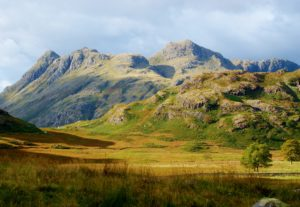 UNESCO World Heritage site The Langdale Pikes in the Lake District