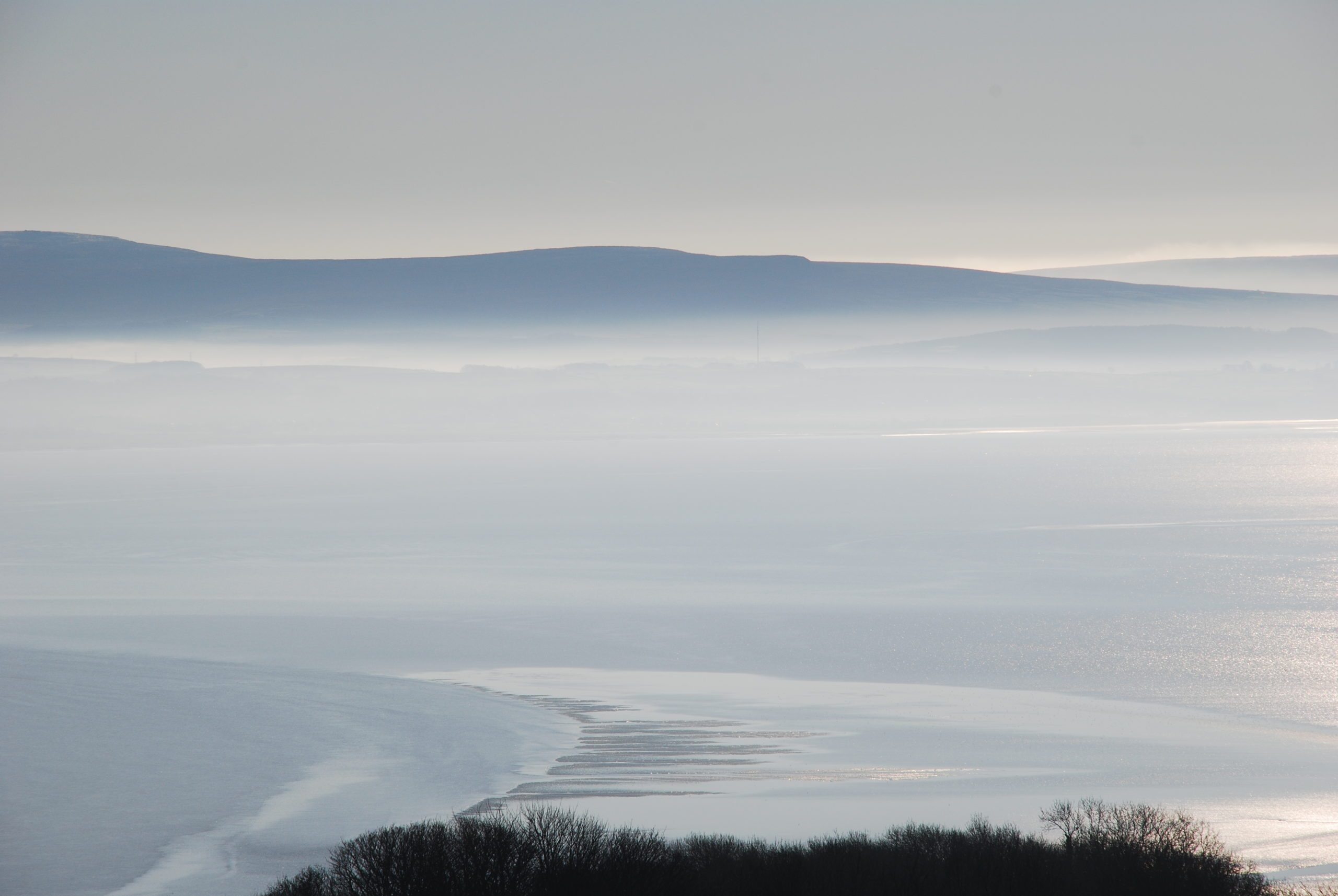 Misty morning over Morecambe Bay