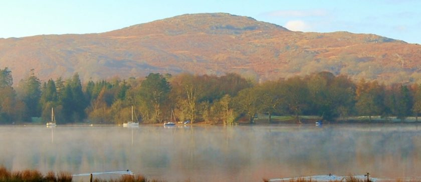 Coniston Water in Autumn