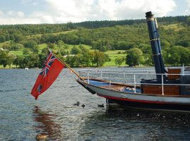 The Steam Gondola on Coniston Water