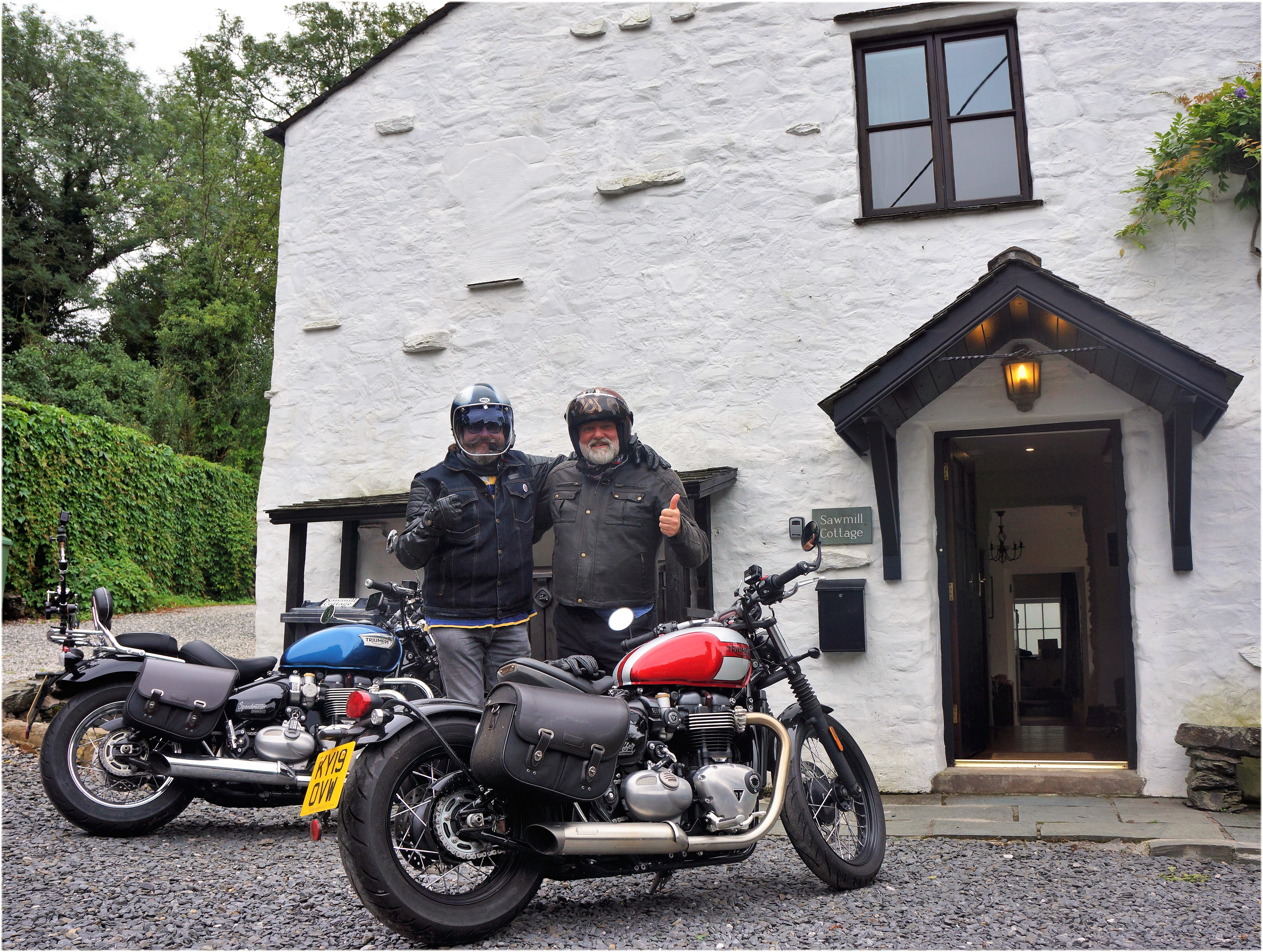 The Hairy Bikers at Sawmill Cottage on the BBC series