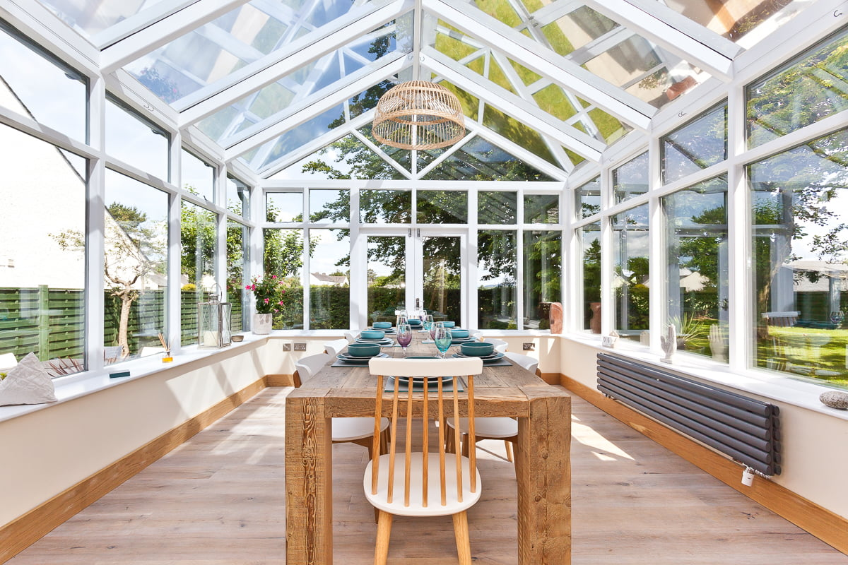 The large conservatory at Weavers Cottage in Cartmel