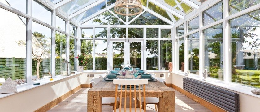 The conservatory at Weavers Cottage in Cartmel