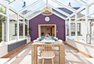 Weavers Cottage in Cartmel in the conservatory