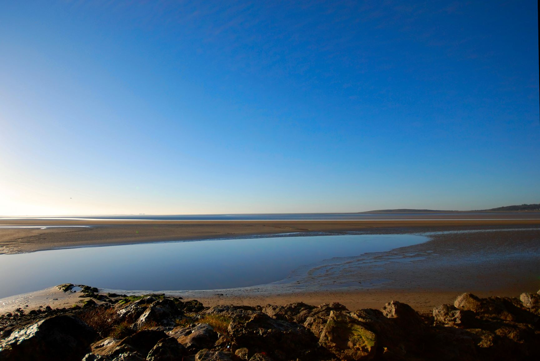 Stunning image looking accross Morecambe Bay