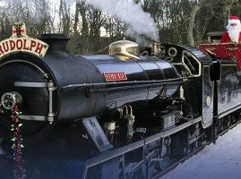 Steam train at the Ravenglass & Eskdale Railway