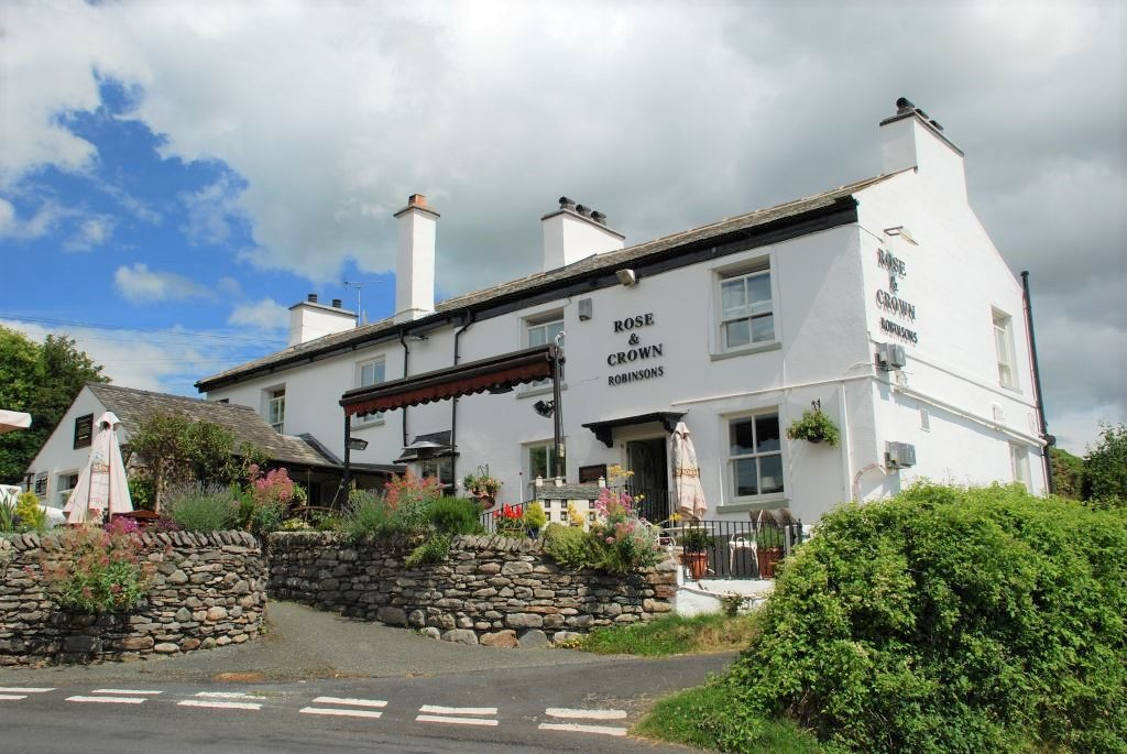 The Rose and Crown pub in Cark in Cartmel
