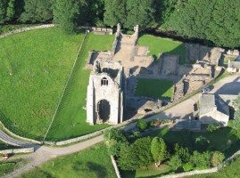 Aerial view of Shap Abbey