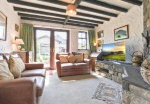 The living room at Bridgelands Cottage