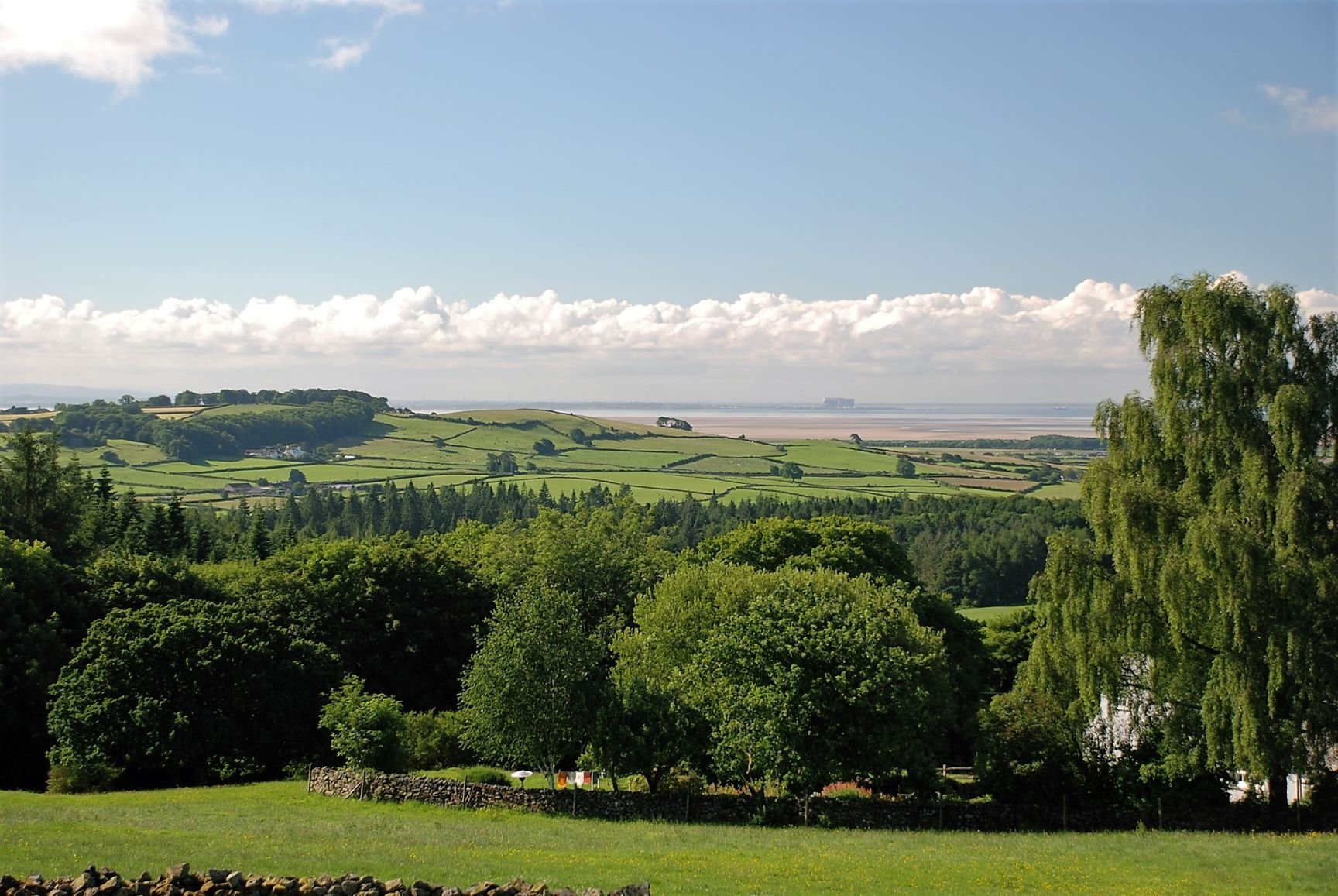 The view from Cartmel Hill in summer