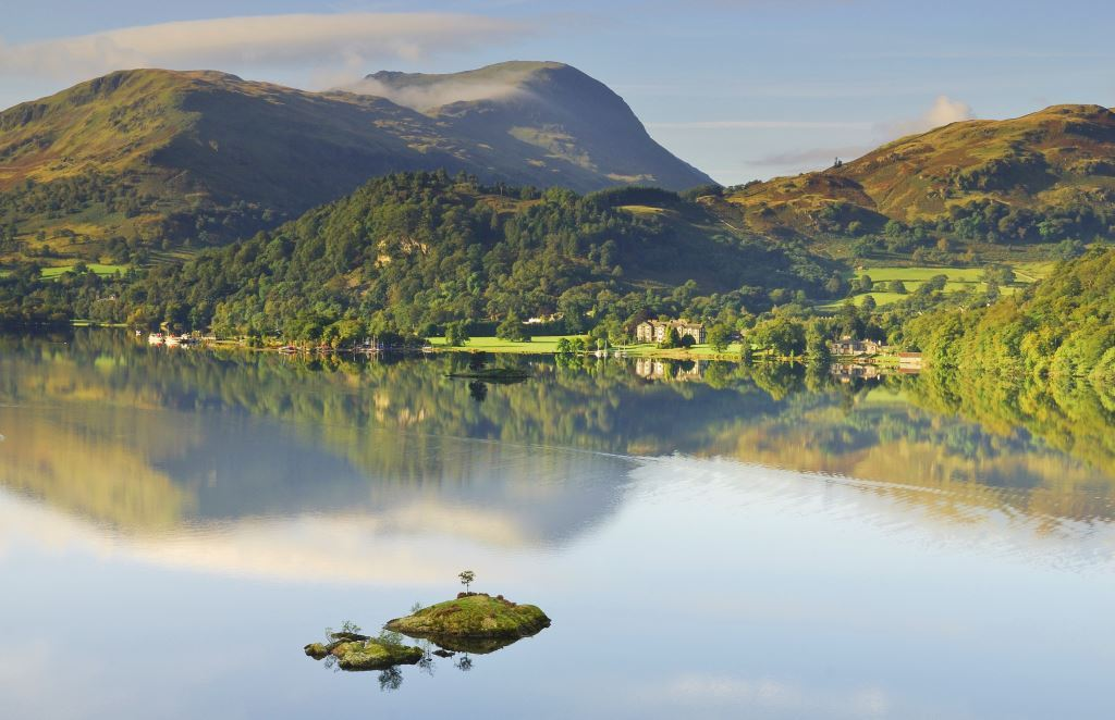 Gorgeous view across Ullswater in the Lake District