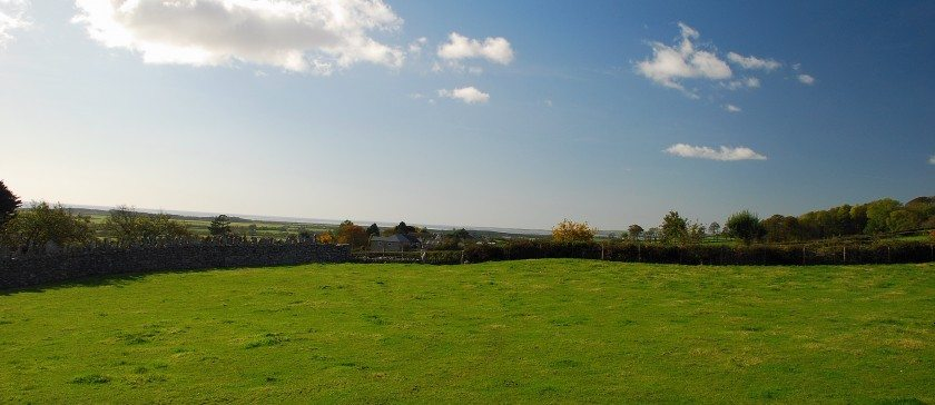 The stunning veiw from the patio towards Morecambe Bay