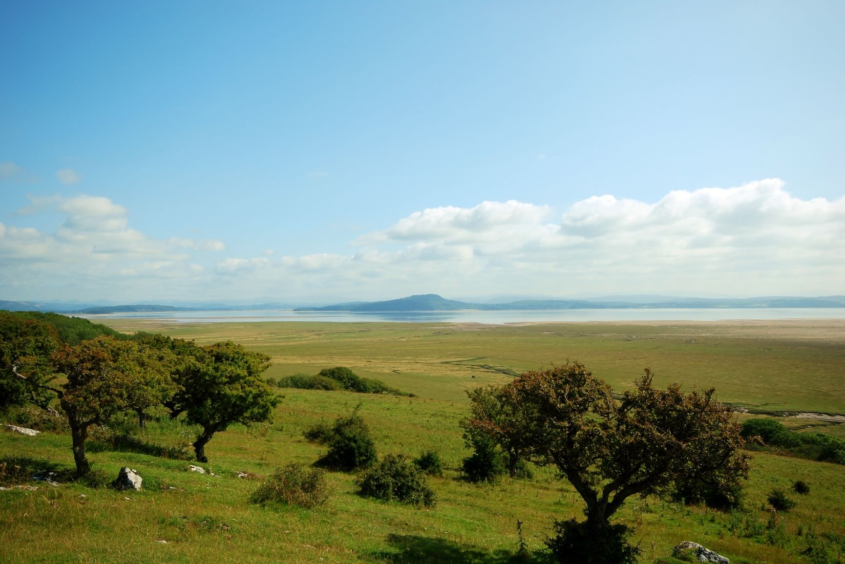 The view From Humphrey Head across Morecambe Bay