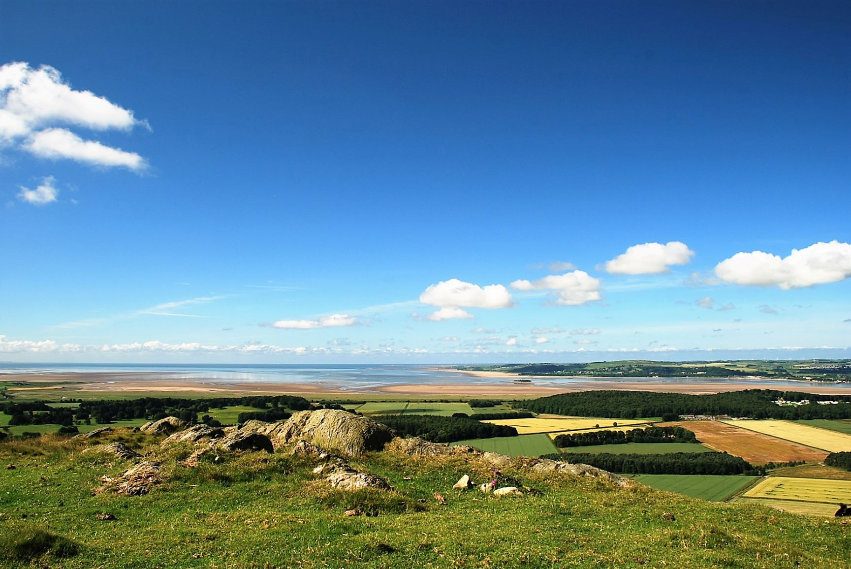 View of Morecambe Bay from Hampsfell in the Cartmel Valley