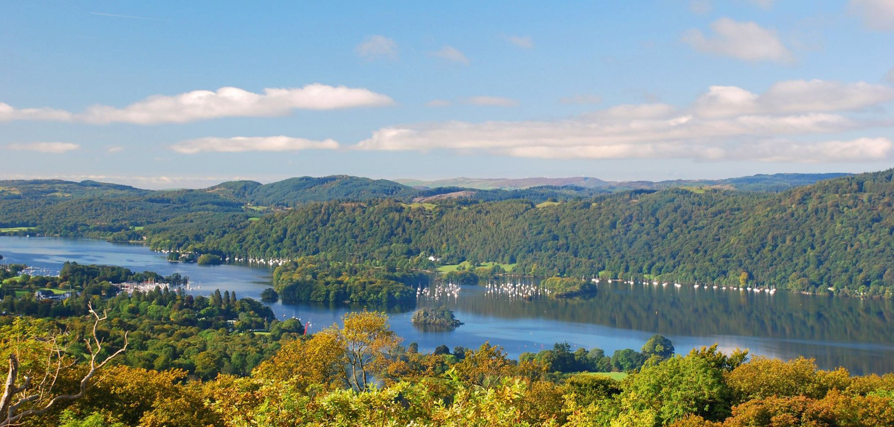 View of Windermere lake in the Lake District