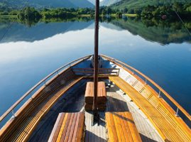 Boat on Ullswater lake