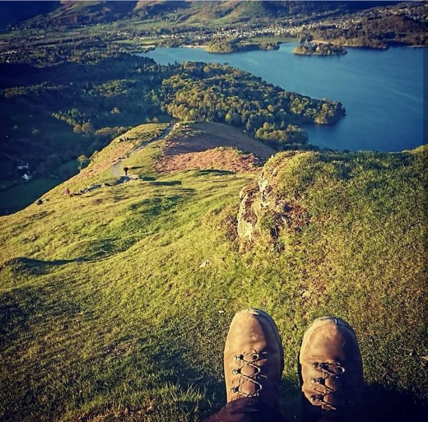 Walking boots on the Lake District Fells