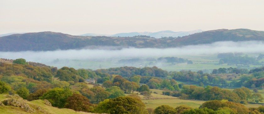 The View of Cartmel Valley from Howbarrow