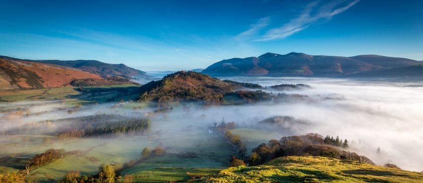 Mist inversions in the Lake District