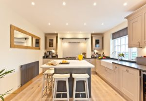 The Large Kitchen at Weavers Cottage in Cartmel